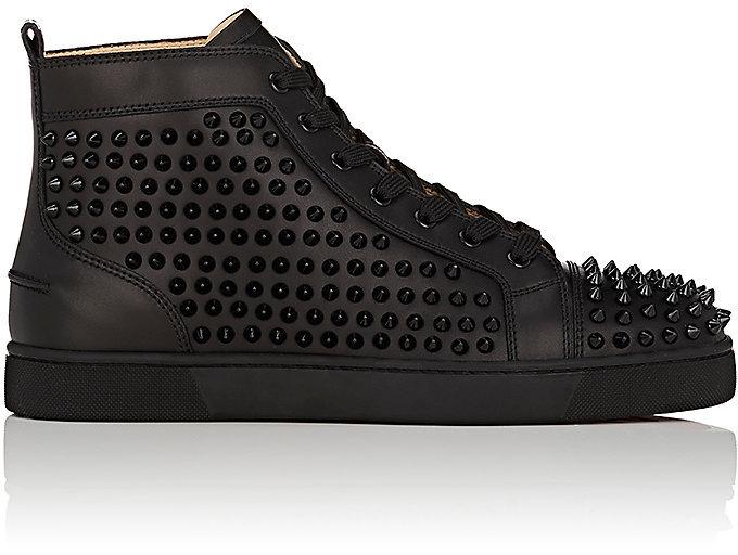 Christian Louboutin Men's Louis Flat High-Top Sneakers