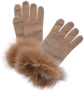 Sofia Cashmere Cashmere Knit Tech Gloves With $10 Credit