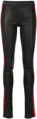 Drome leather leggings with contrasting side bands