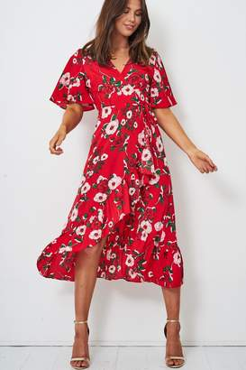 Frontrow Red Wrap Dress