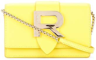 Rochas R plaque crossbody bag