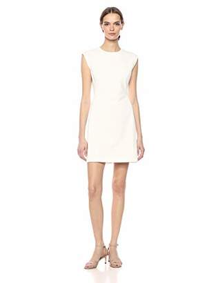 Theory Women's Cap Sleeve Structured Fitted Dress
