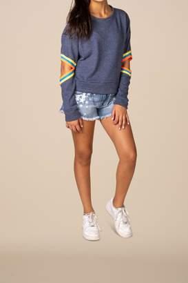 Vintage Havana Elbow Cropped Sweatshirt
