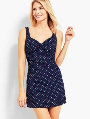 Talbots Multi-Dot Marina Swim Dress