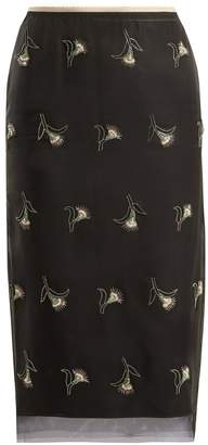 No.21 NO. 21 Sequin and bead-embellished pencil skirt