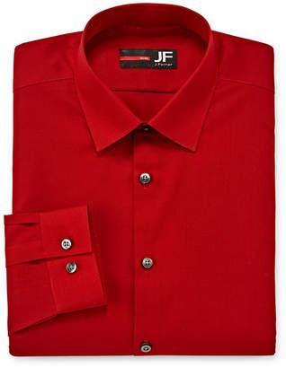 Jf J.Ferrar Easy-Care Solid Mens Point Collar Long Sleeve Stretch Dress Shirt