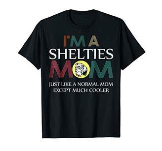 I am a Shelties Mom like a normal Mom Dog Vintage Tshirt