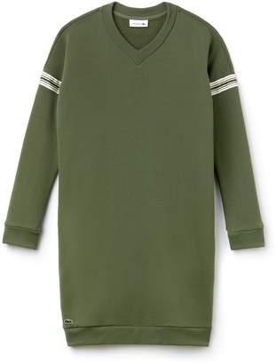Lacoste Women's Contrast Bands Sweatshirt Dress