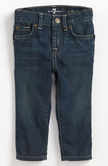 7 For All Mankind 'Slimmy' Slim Fit Jeans (Baby Boys) (Online Only)