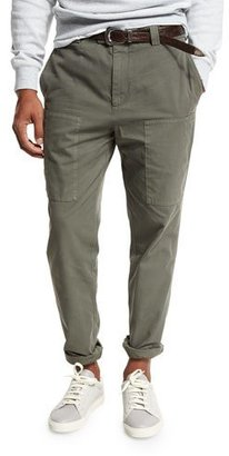 Brunello Cucinelli Gabardine Cargo Pants $695 thestylecure.com
