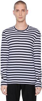 Striped Cotton Jersey T-Shirt $274 thestylecure.com