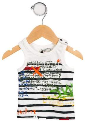 Junior Gaultier Boys' Graphic Sleeveless Shirt w/ Tags