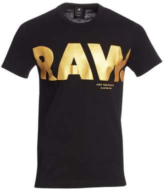 G Star Raw Metallic Raw Logo Tee