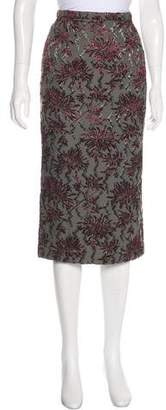 Rochas Patterned Knee-Length Skirt