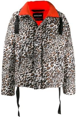 Roberto Cavalli leopard print puffer jacket