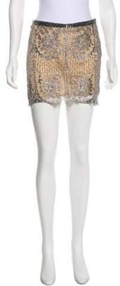 Gianfranco Ferre Metallic Lace Skirt