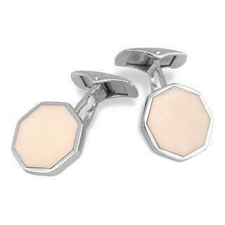 Forzieri DiFulco Line Octagonal Sterling Silver Cufflinks