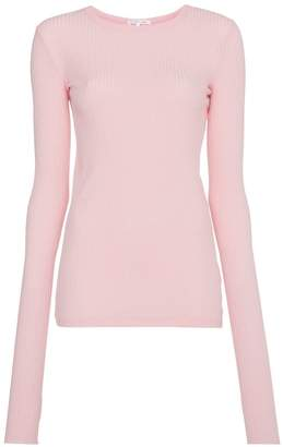 Helmut Lang ribbed top with thumb holes