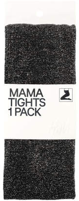 H&M MAMA Glittery Tights - Black
