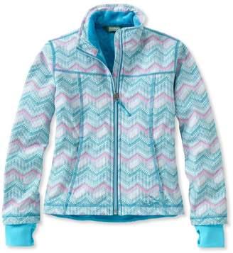 L.L. Bean L.L.Bean Girls' Wonderfleece Soft-Shell Jacket, Print