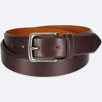 Uniqlo Men's Italian Saddle Leather Belt