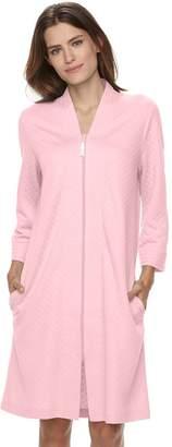 Croft & Barrow Women's Quilted Zip-Up Duster Robe