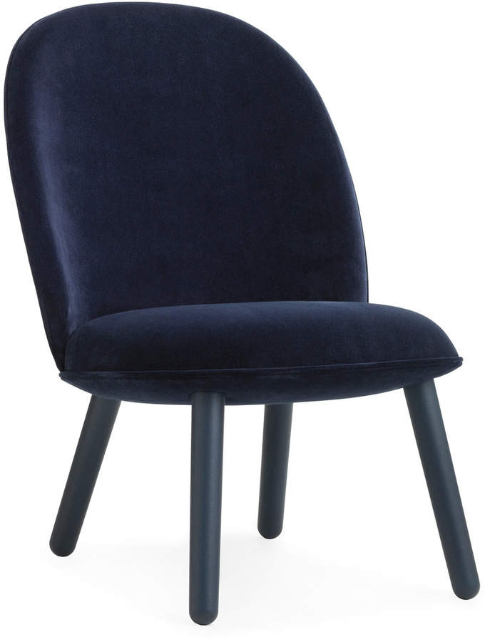 Normann Copenhagen - Ace Lounge Chair Velour, dark blue