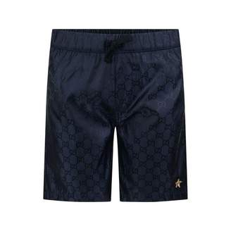 Gucci GUCCIBoys Navy GG Swim Shorts