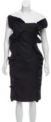 Giambattista Valli Strapless Ruffle-Trimmed Dress
