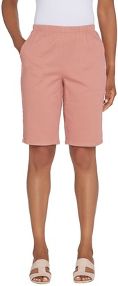 "Denim & Co. 11"" Pull-on Side Pocket Shorts - Color"