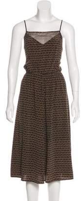 NO.6 STORE Silk Abstract Print Dress