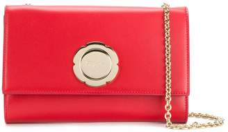 Salvatore Ferragamo flower logo clutch