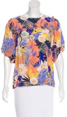Sanctuary Three-Quarter Sleeve Floral Print Blouse w/ Tags