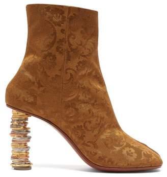 Vetements Geisha Brocade Coin Heel Boots - Womens - Bronze