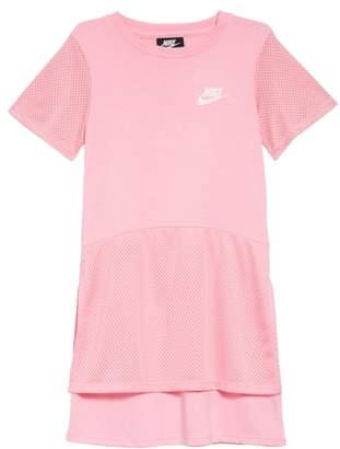 Nike Mesh Trim Dress