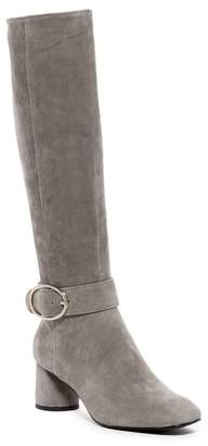 Donald J Pliner Caye Suede Heeled Buckle Boot