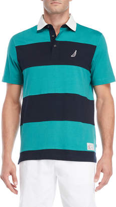 Nautica Stripe Block Knit Polo