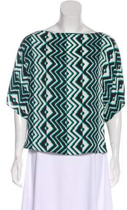 Milly Abstract Print Blouse
