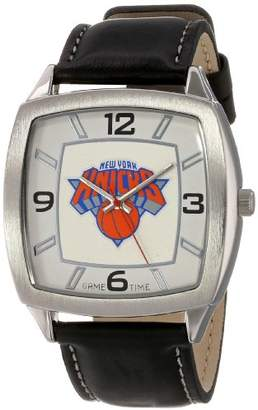 Game Time Men's 'Retro Series' Quartz Metal and Leather Casual Watch(Model: NBA-RET-NY)