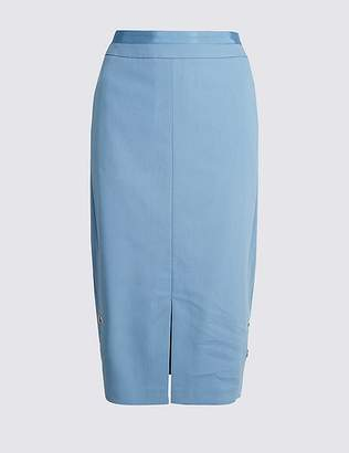 Marks and Spencer Front Split Pencil Midi Skirt
