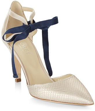 HOBBS LONDON Gabriella Ankle Tie d'Orsay Court Pumps $300 thestylecure.com