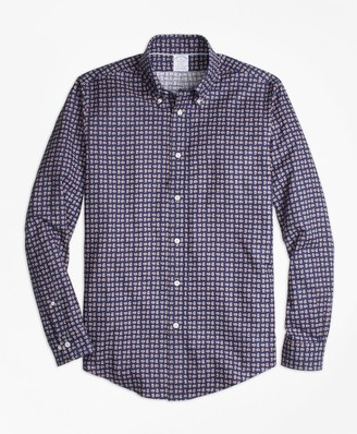 Brooks Brothers Regent Fit Mini-Paisley Print Sport Shirt