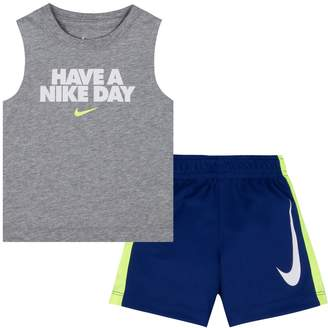"""Nike Baby Boy Have A Day"""" Muscle Tee & Shorts Set"""
