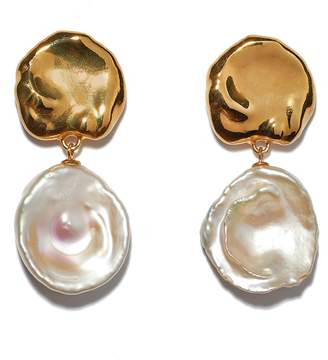 Lizzie Fortunato Coin Reflection Freshwater Pearl Earrings