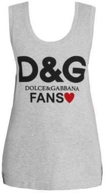 Dolce & Gabbana Cotton Logo Tank