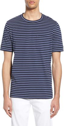 HUGO Denily Slim Fit Striped Pocket T-Shirt