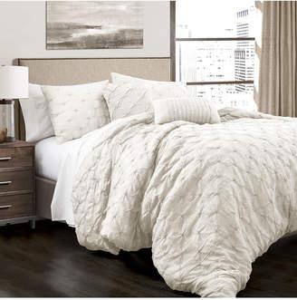 Lush Decor Ravello Pintuck King Comforter 5Pc Set Bedding