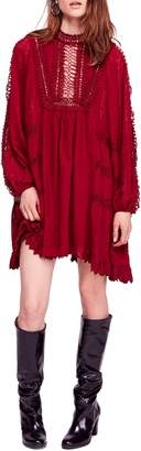 Free People Venice Crochet Detail Cotton Minidress