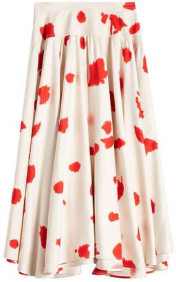 Calvin Klein Printed Silk Skirt