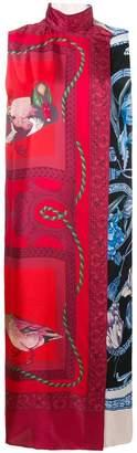 Salvatore Ferragamo printed loose long dress